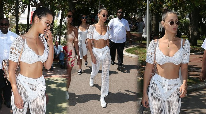 Bella Hadid – Candids in Cannes