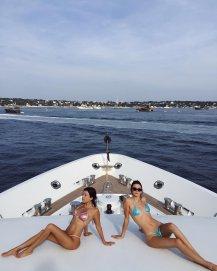 Kendall Kourtney Kardashian Bikini Yacht