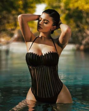 Kylie Jenner sexy body in photoshoot by Brendan Forbes 2017