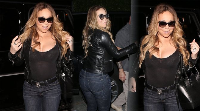 Mariah Carey – Cleavage Candids in West Hollywood