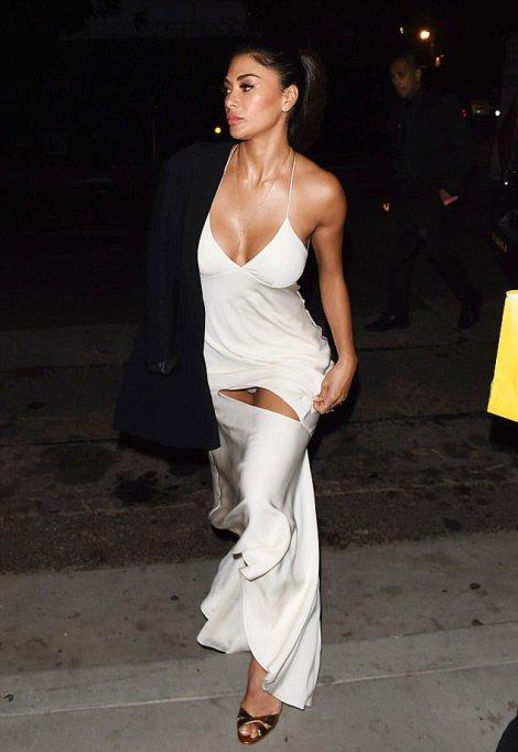 Nicole Scherzinger having oops moment exposing her panties in risky sexy dress