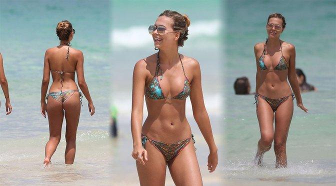 Sandra Kubicka – Bikini Candids in Miami