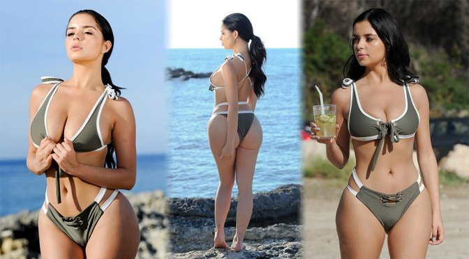 Demi Rose Mawby – Bikini Photoshoot Candids in Ibiza