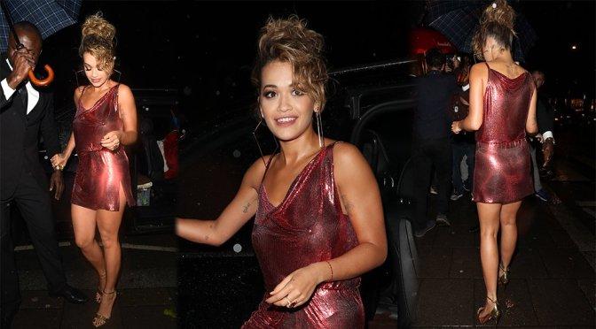 Rita Ora – Braless See-Through Candids in London