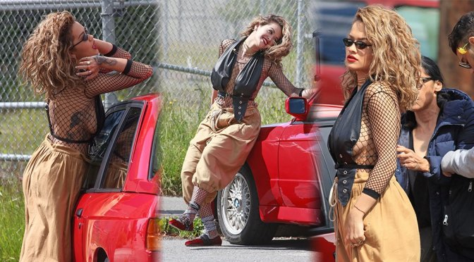 Rita Ora – Photoshoot Candids in Vancouver