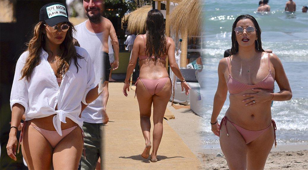 Eva Longoria - Bikini Candids in Marabella