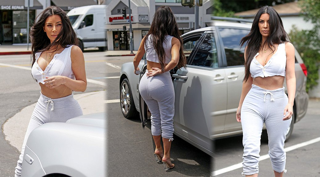 Kim Kardashian - Cleavage Candids in Sherman Oaks