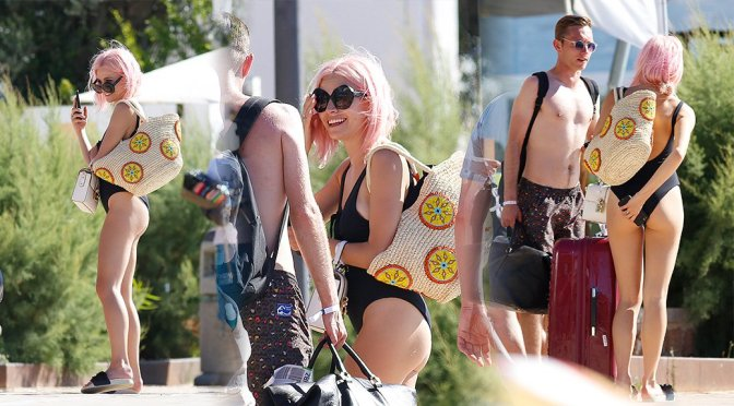 Pixie Lott – Swimsuit Candids in Ibiza