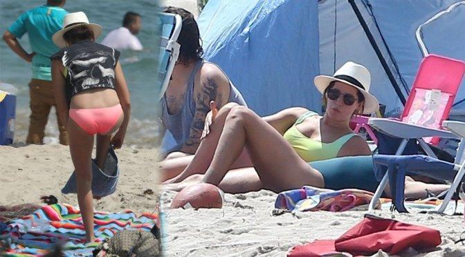 Ashley Tisdale – Bikini Candids in Malibu
