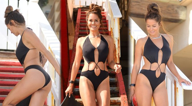 Brooke Burke – Swimsuit Photoshoot Candids in Malibu