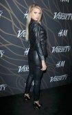 Charlotte Mckinney Sexy Leather