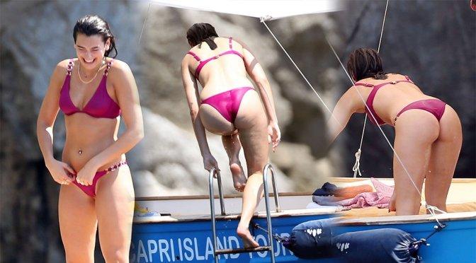 Dua Lipa – Bikini Candids in Capri