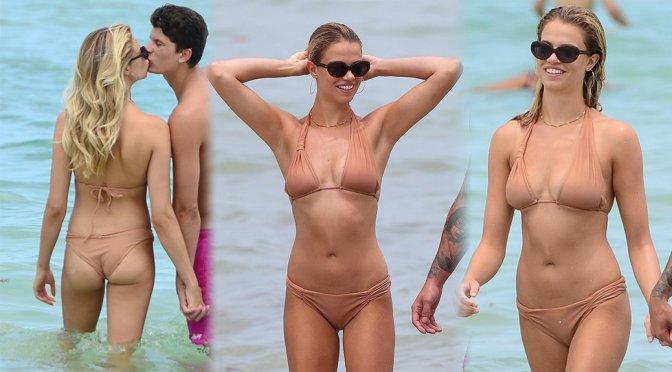 Hailey Clauson – Bikini Candids in Miami