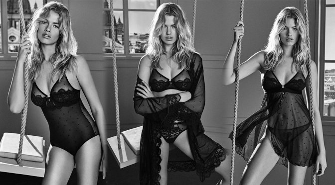 "Hailey Clauson – ""Twinset"" Underwear Fall 2017 Campaign"