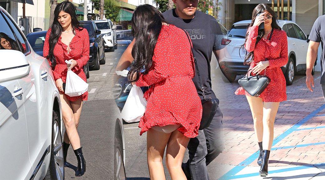 Kylie Jenner - Upskirt Candids in Beverly Hills