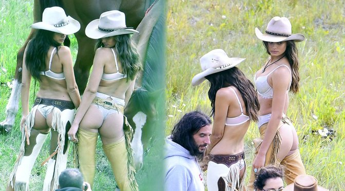 Sara Sampaio & Taylor Hill – Victoria's Secret Lingerie Photoshoot Candids