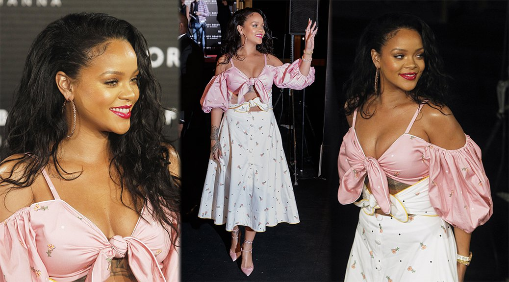 "Rihanna - ""FENTY Beauty"" Launch in Madrid"