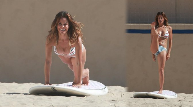 Brooke Burke-Charvet – Bikini Candids in Malibu