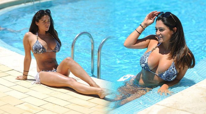 Casey Batchelor – Bikini Candids in Cyprus