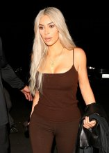 Kim Kardashian after Dave Chappelle's pop up gig in West Hollywood