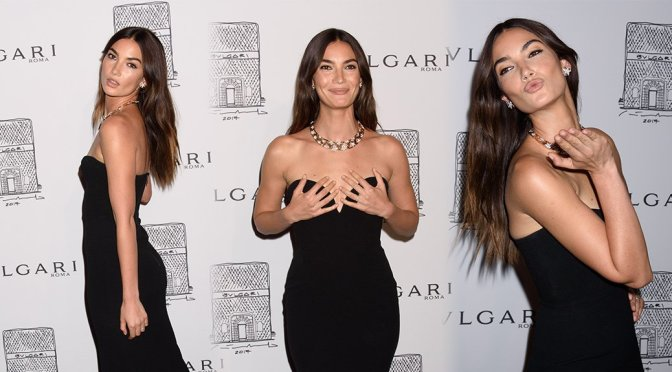 Lily Aldridge – Bulgari Flagship Store Opening in New York