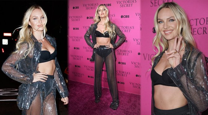 Candice Swanepoel – 2017 Victoria's Secret Fashion Show Viewing Party