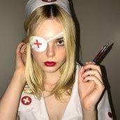 Elle Fanning Sexy Nurse