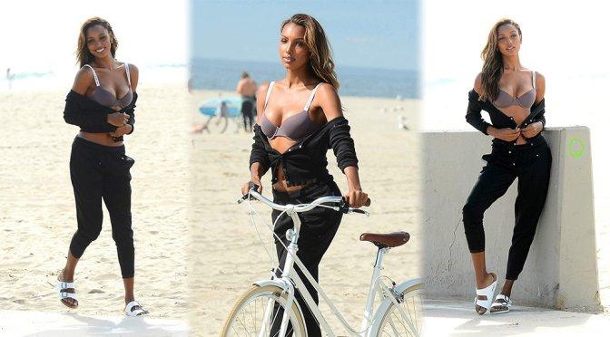 Jasmine Tookes – Victoria's Secret Photoshoot Candids in Venice Beach