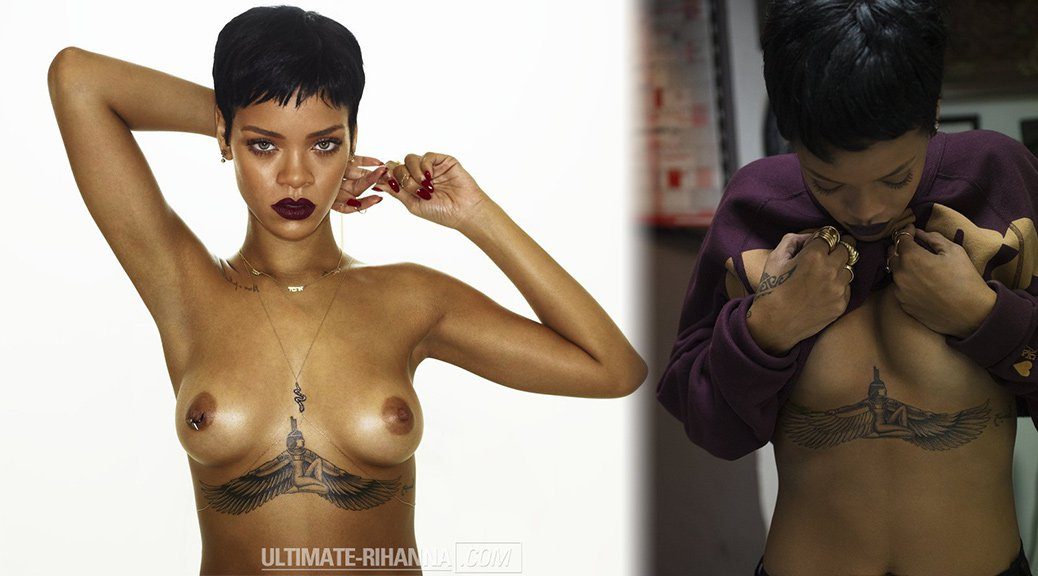 "Rihanna - ""Unapologetic"" 2012 Topless Photoshoot Outtakes (NSFW)"