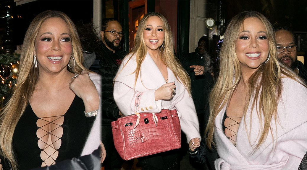 Mariah Carey - Nipslip Candids in Paris