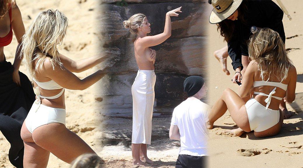 Natasha Oakley - Bikini Photoshoot Candids in Sydney