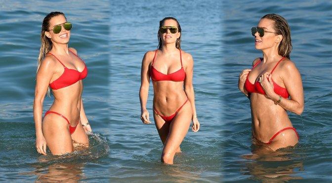 Sylvie Meis – Bikini Candids in Miami Beach