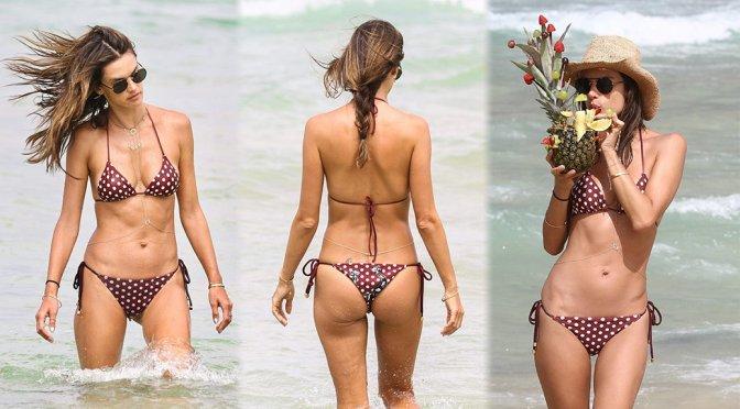 Alessandra Ambrosio – Bikini Candids in Praia Brava