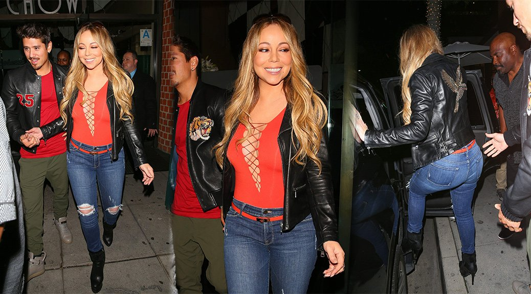 Mariah Carey - Braless Candids in Beverly Hills