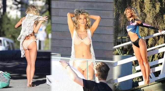 AnnaLynne McCord – Bikini Photoshoot Candids in Los Angeles