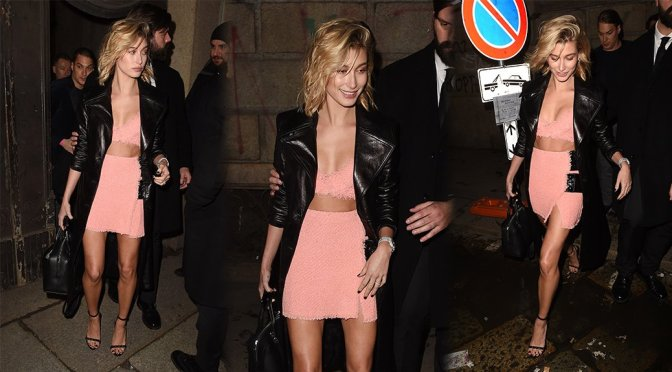 Hailey Baldwin – Candids in Milan