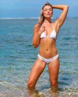 Katrina Bowden White Bikini