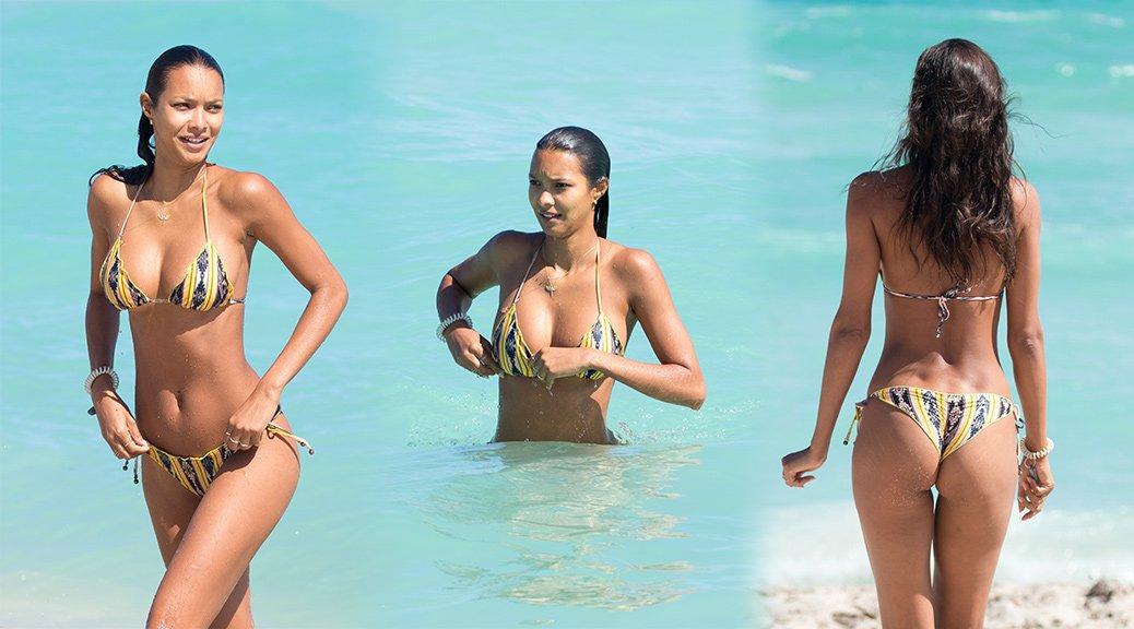 Lais Ribeiro - Bikini Candids in Miami