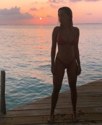Rita Ora Red Bikini