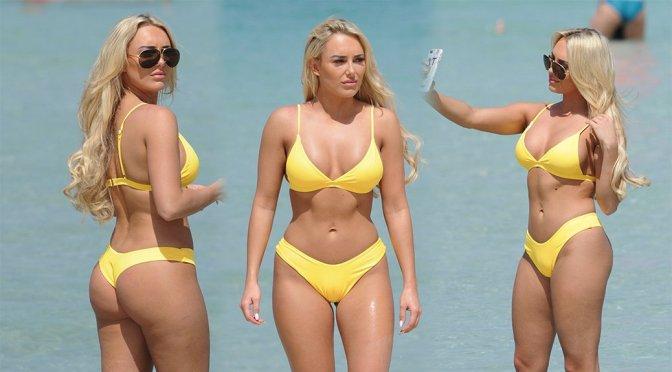 Amber Turner – Bikini Candids in Dubai