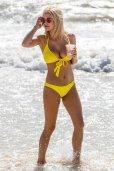 Ashley James Yellow Bikini ()
