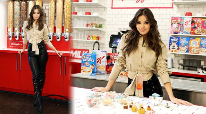 Hailee Steinfeld – Kellogg's NYC Cafe for National Cereal Day