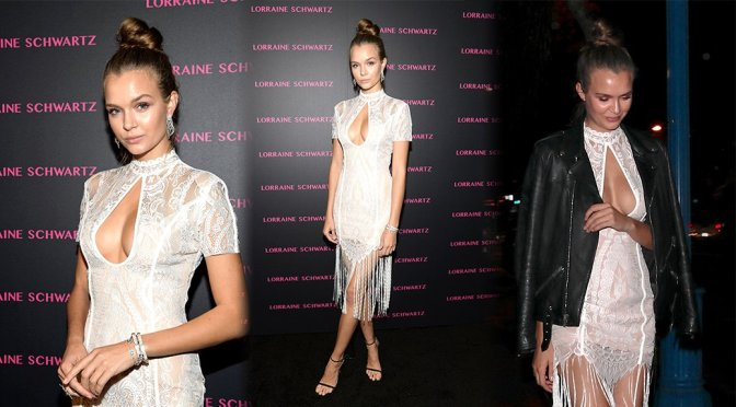 "Josephine Skriver – ""Against Evil Eye"" by Lorraine Schwartz Launch"