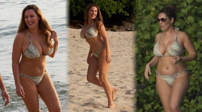 Kelly Brook – Bikini Candids in Thailand