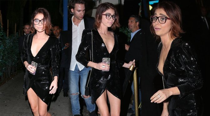 Sarah Hyland – Nipslip Candids in West Hollywood