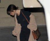 Selena Gomez braless wearing black tshirt