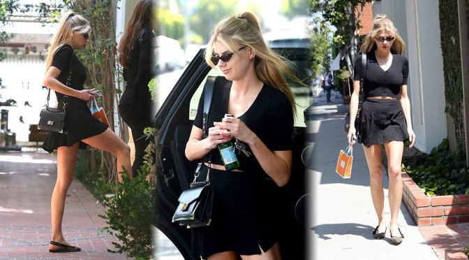 Charlotte McKinney – Leggy Candids in West Hollywood