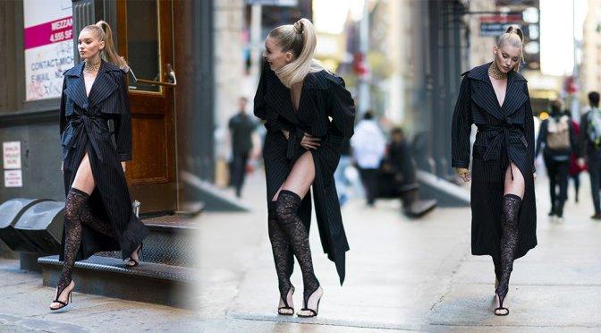 Elsa Hosk – Photoshoot Candids in New York