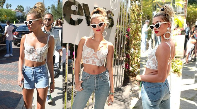 Hailey Baldwin – Levi's Coachella Brunch in Palm Springs