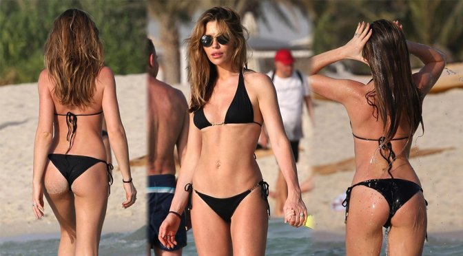 Abbey Clancy – Bikini Candids in Dubai